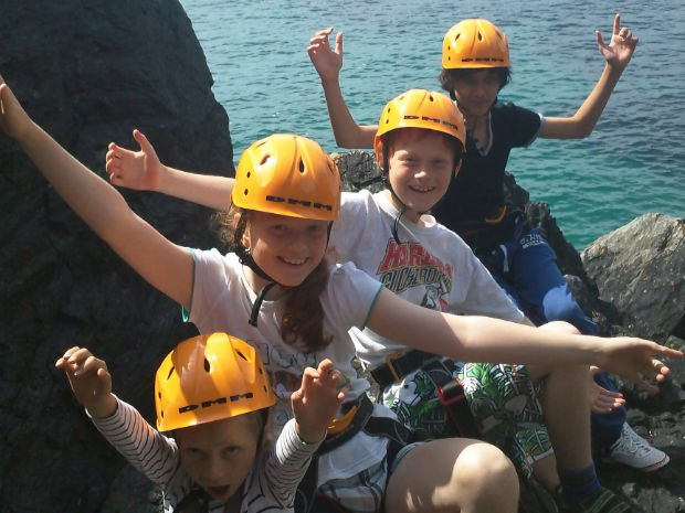 Family Group Climbing with Lizard Adventure
