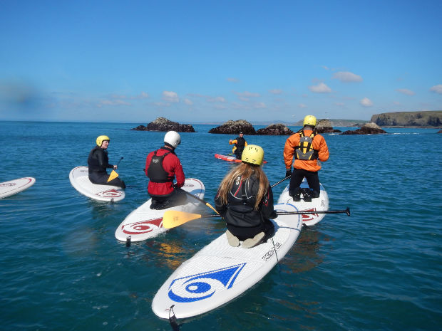 SUP training on the Lizard Cornwall