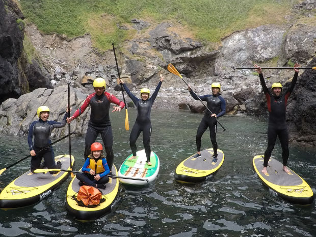 Suping at Coverack with lizard adventure