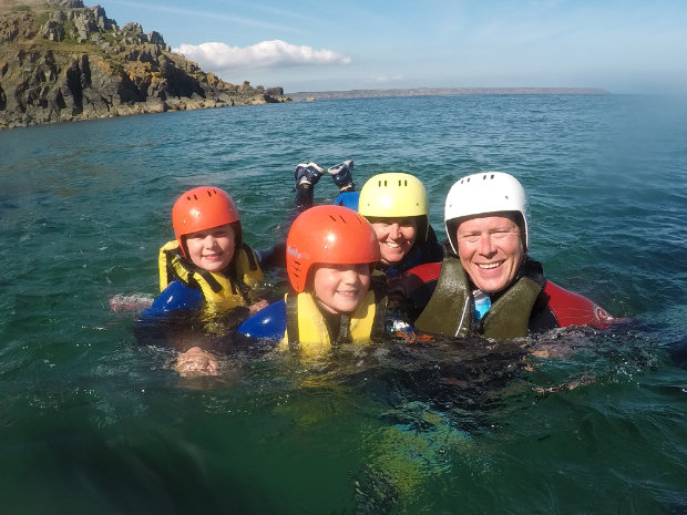 coasteering family group Cornwall