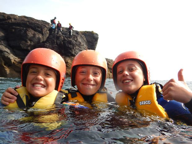 family coasteering lizard