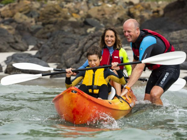 Kayaking in Hayle with Lizard Adventure