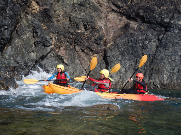 Kayaking on the Lizard Cornwall
