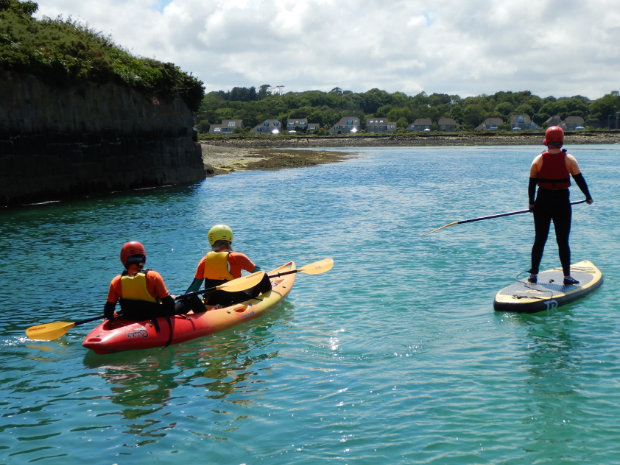 Kayaking and SUPing in Hayle